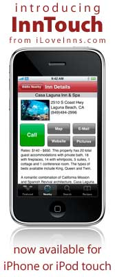 InnTouch Free Bed and Breakfast App for iPhone